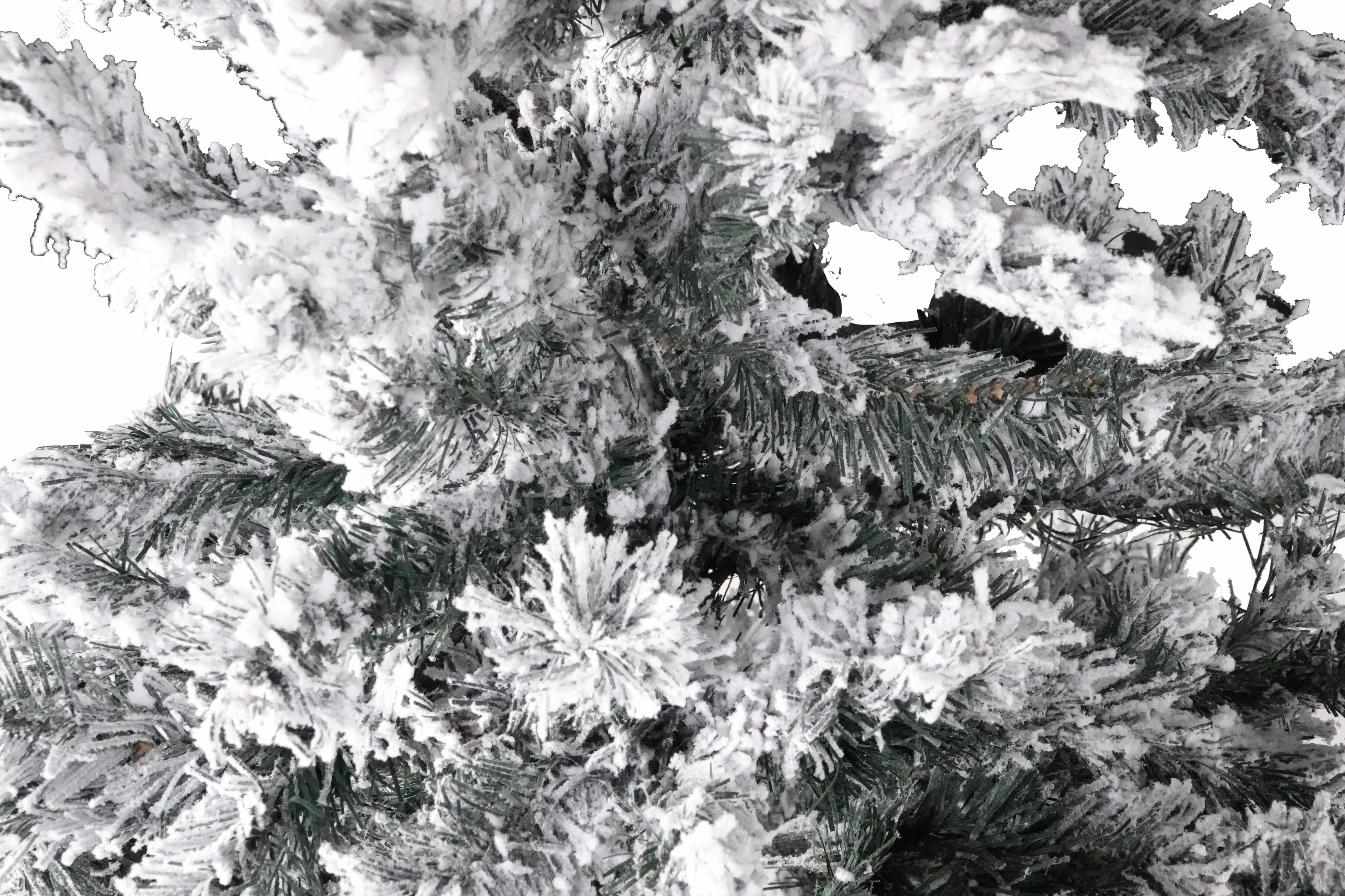4Goodz besneeuwde kunstkerstboom 150 cm - 95 cm breed