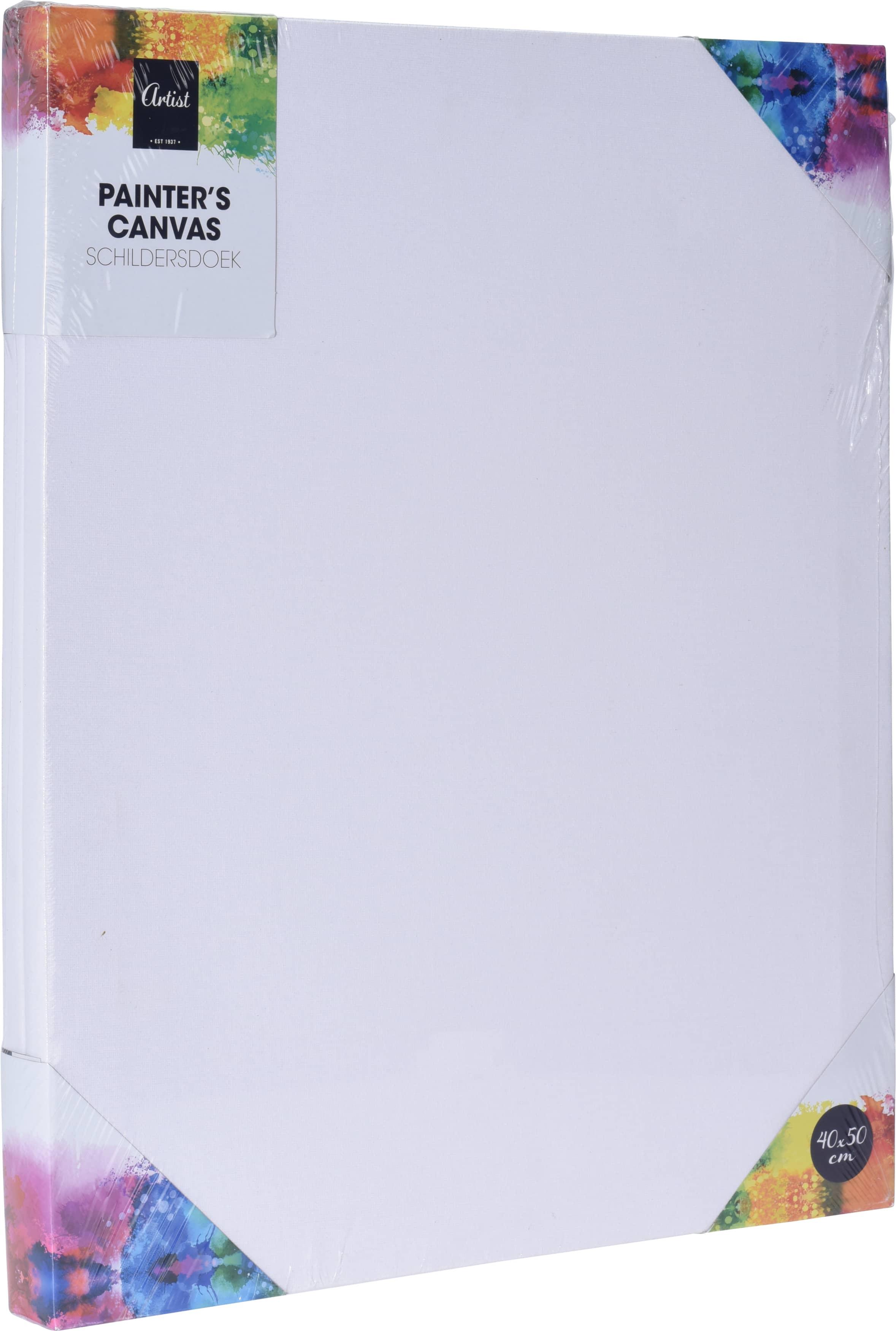 4Goodz 2 stuks rechthoekige canvas schildersdoeken - 40x50 cm