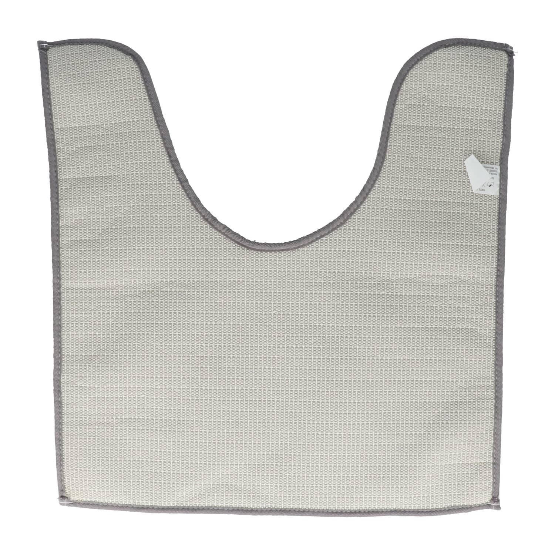 4goodz comfortabele Toiletmat polyester 45x50 cm - Grijs