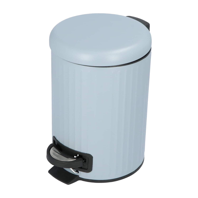 4Goodz Pedaalemmer Classic 3 liter prullenbak - Pastelblauw