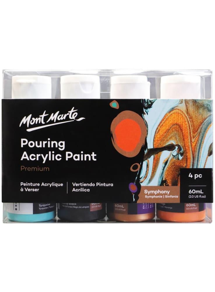 Mont Marte® Pouring Paint Symphony - 4 potjes pouringverf a 60 ml