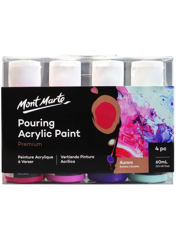Mont Marte® Pouring Paint Aurora - 4 potjes pouringverf a 60 ml