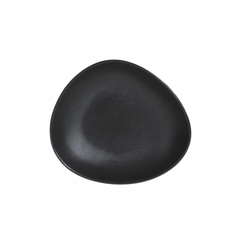 4goodz Kei bordenset 6x Porseleinen Diepe Borden - 22x20 cm - zwart