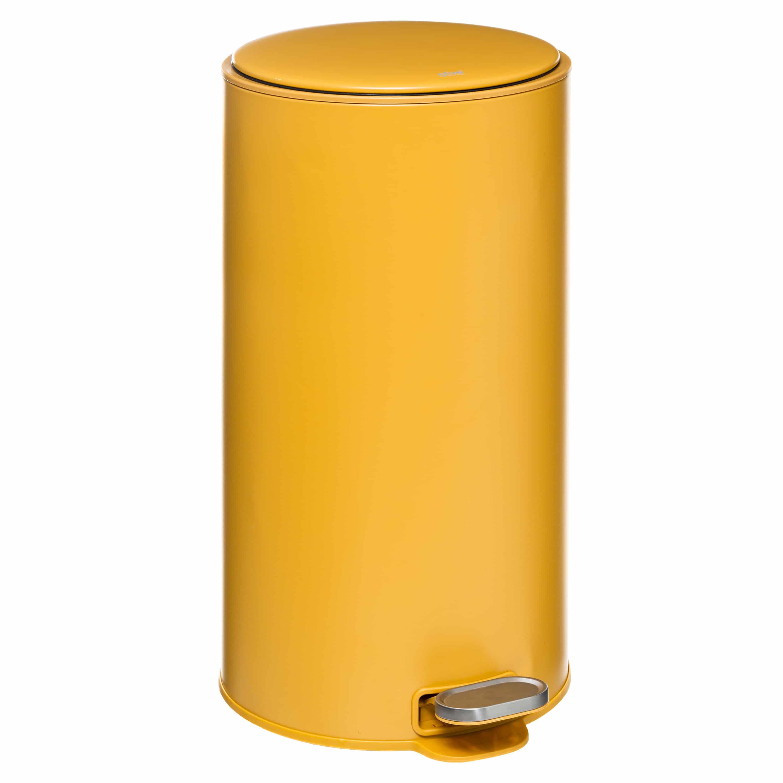4Goodz Pedaalemmer Rond 30 liter met uitneembare binnenbak - Geel