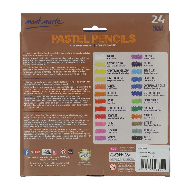 Mont Marte® pastel potloden 24 kleuren