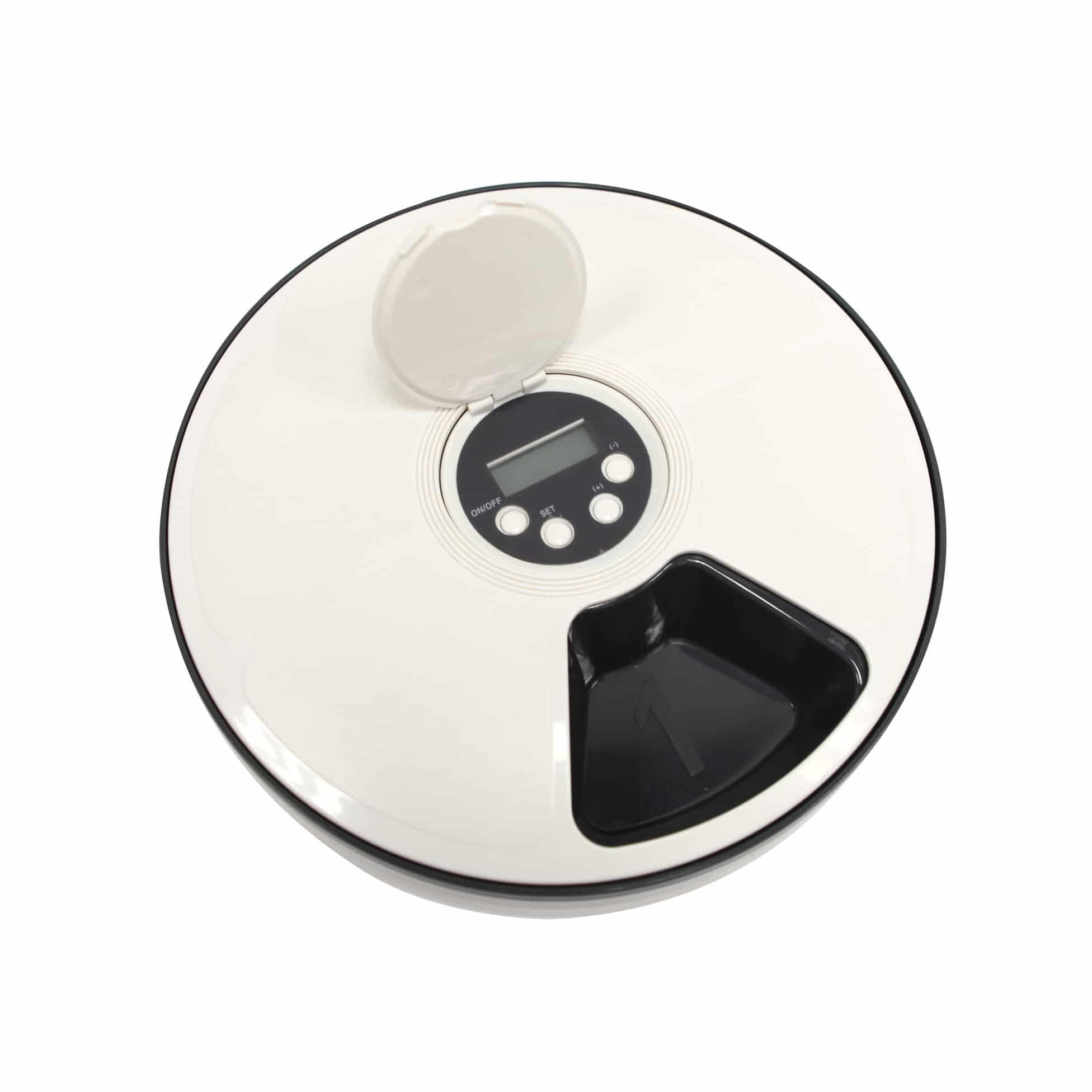 4Goodz programmeerbare huisdier voederbak met 6 vakken 30x5cm - Wit