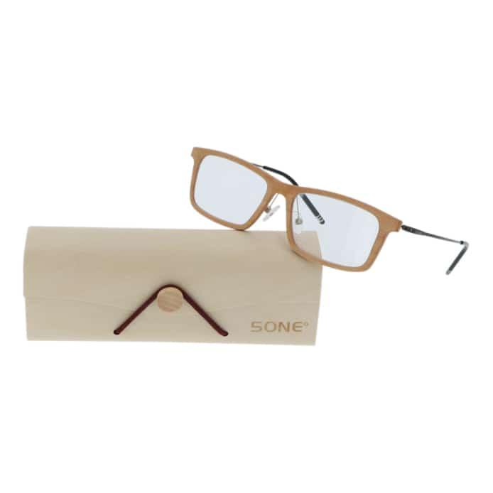 5one® Maple Brown Leesbril +1 - Houten Leesbril +1 met bruin montuur