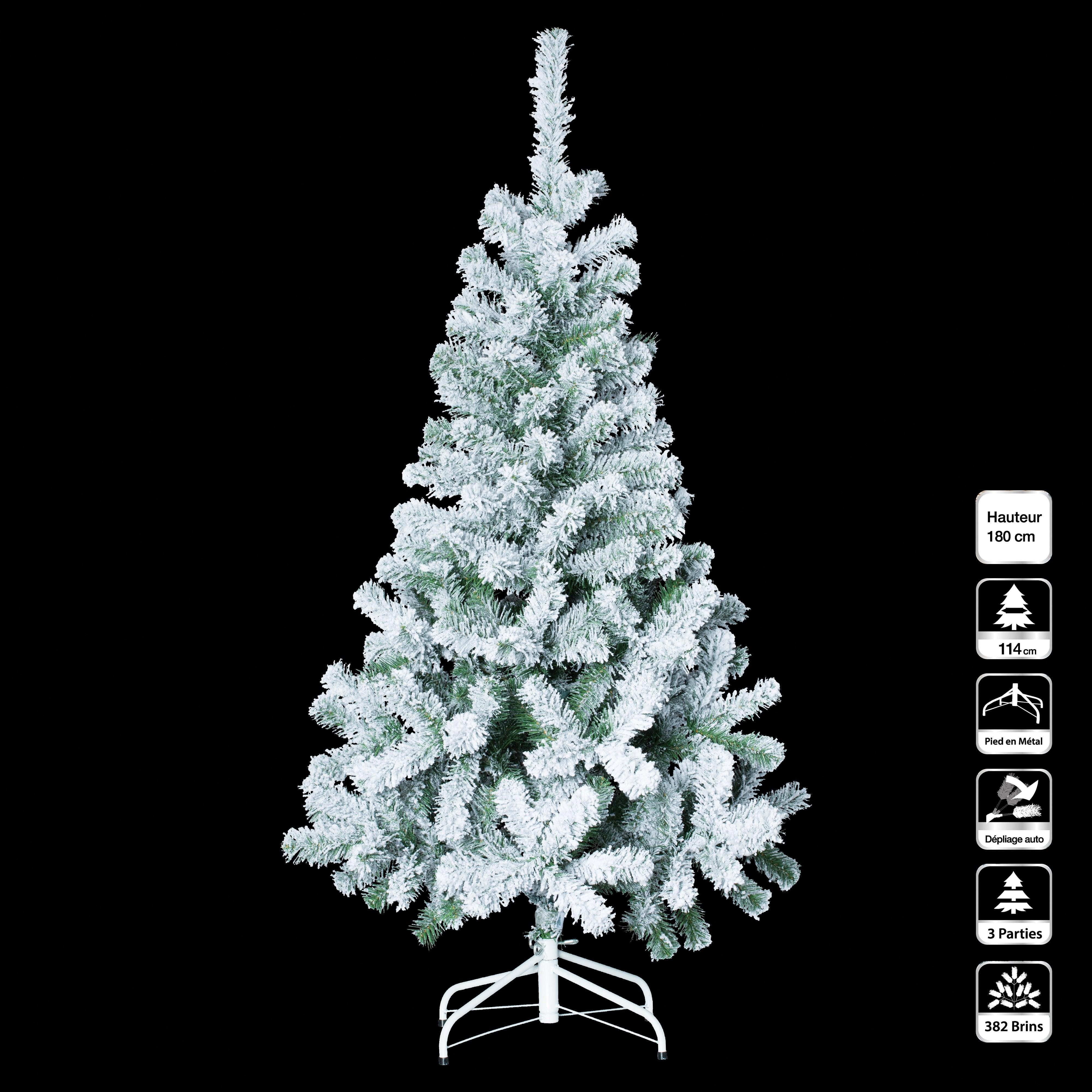 4Goodz diep besneeuwde kunstkerstboom 180 cm - 114 cm breed