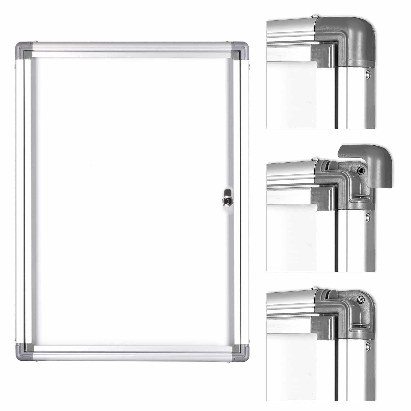 BüroMi Binnenvitrine / Mededelingenbord 9 Din A4 - incl. 36 magneten