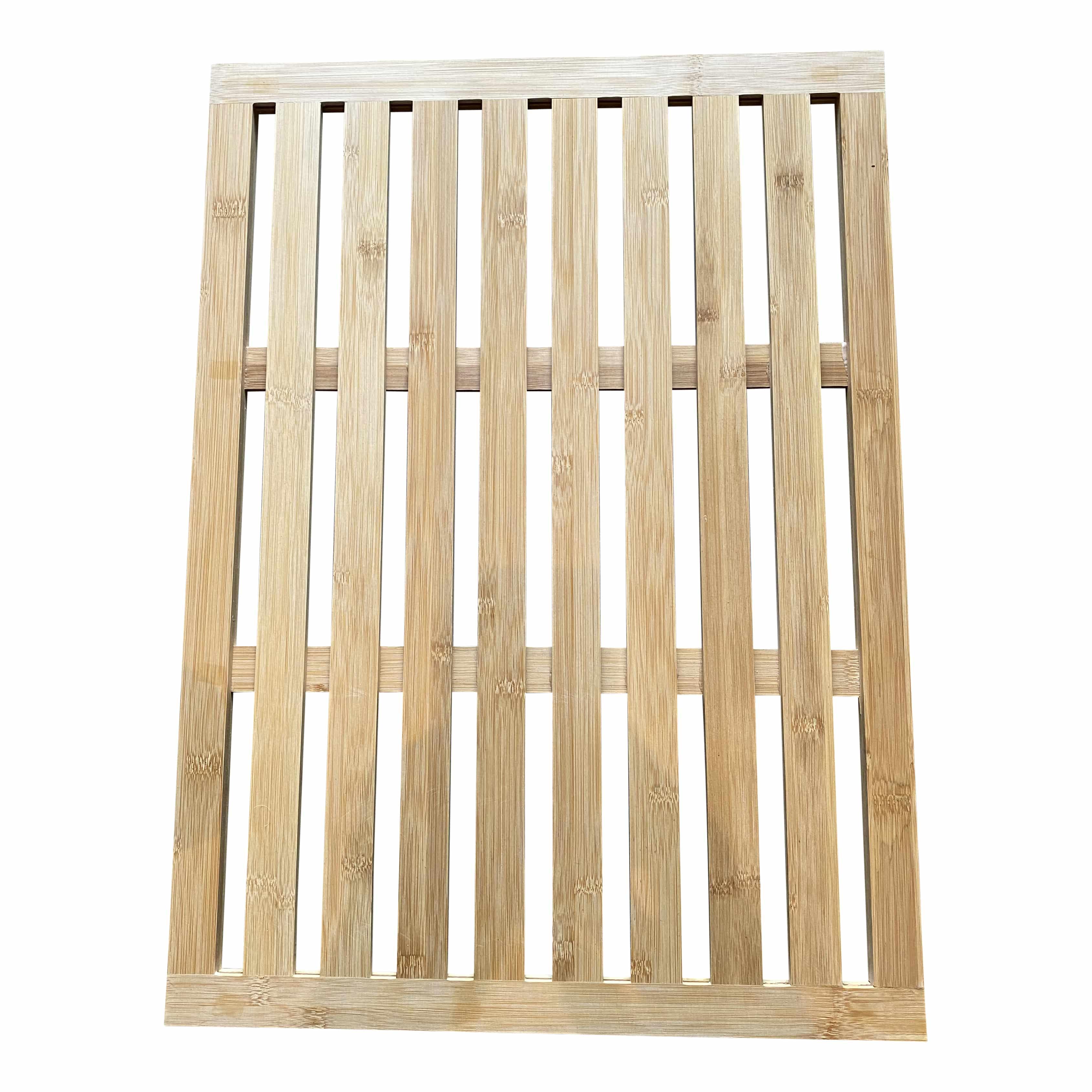 4goodz bamboe anti-slip douchemat-badmat 62x45cm - houten voetenmat