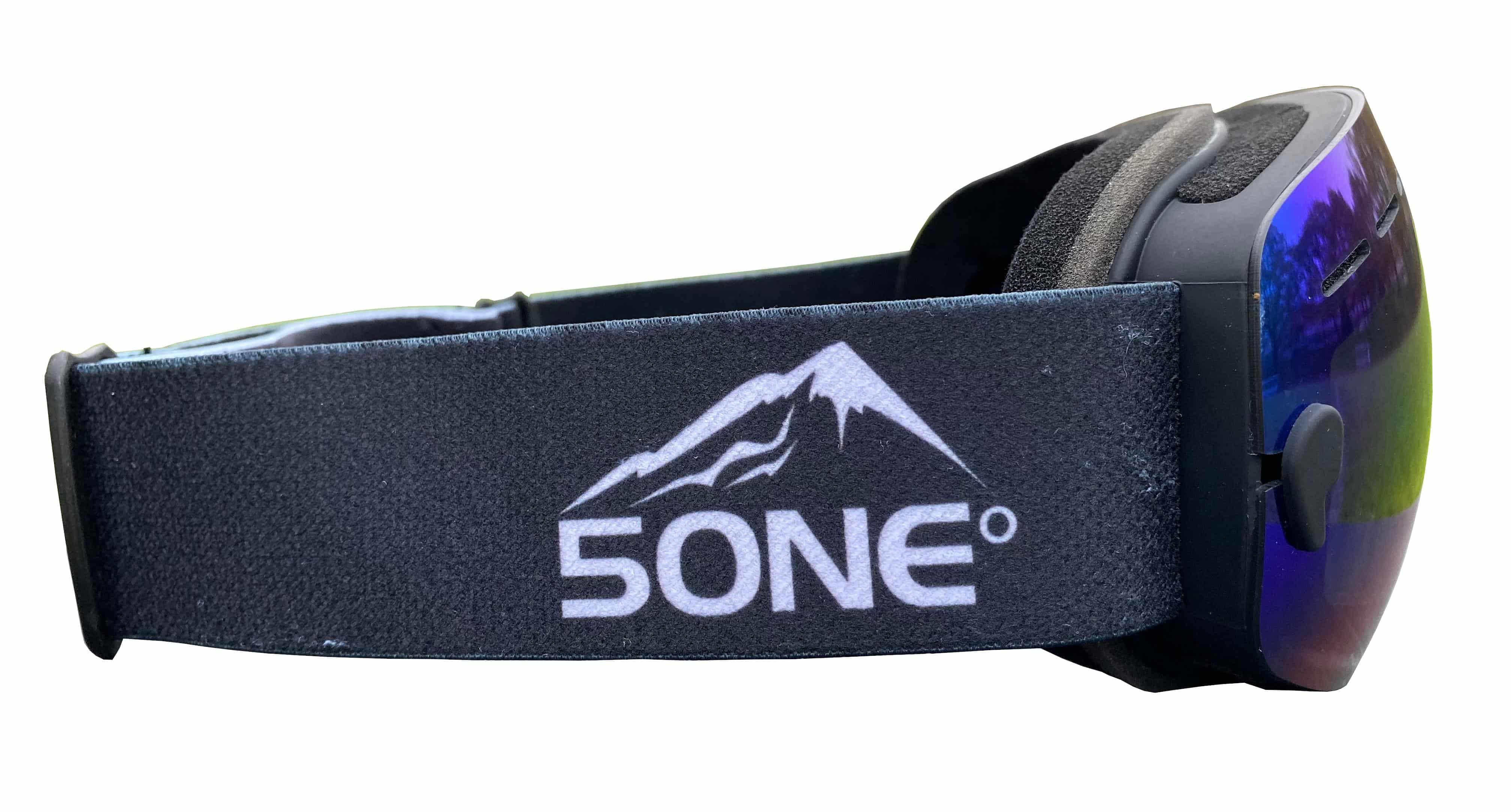 5one® Alpine 2 kinder skibril - Green revo + gele lens - antic-ondens