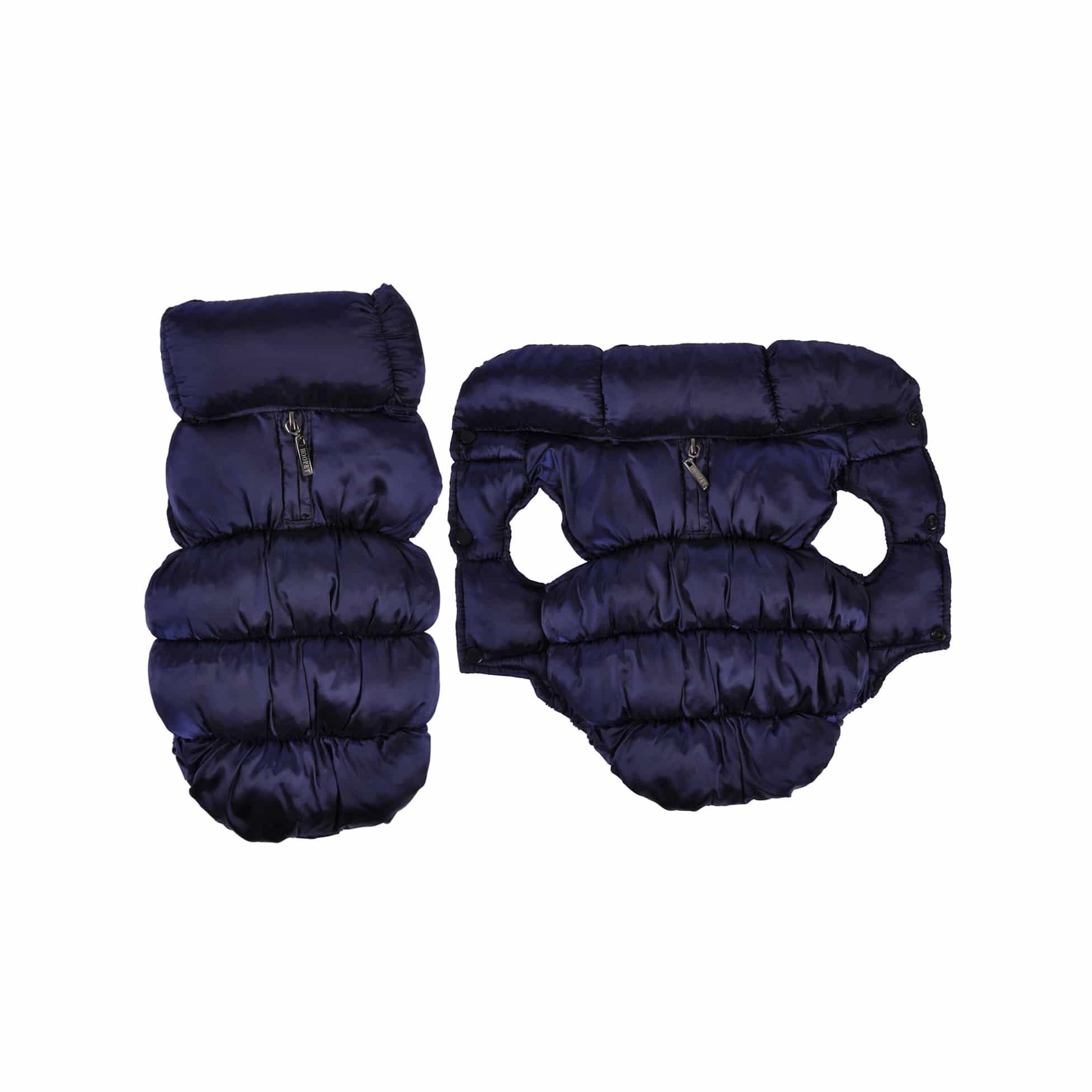 4Goodz Donsjas winterjas bodywarmer voor honden 30 cm - Blauw
