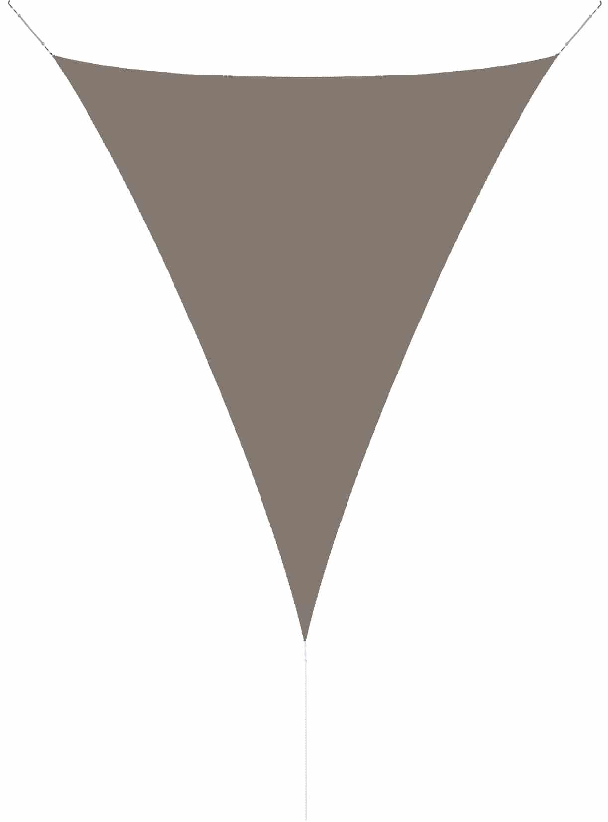 hanSe® Schaduwdoek Driehoek Gelijkbenig Waterdoorlatend 3,5x3,5x4,95 m - Taupe