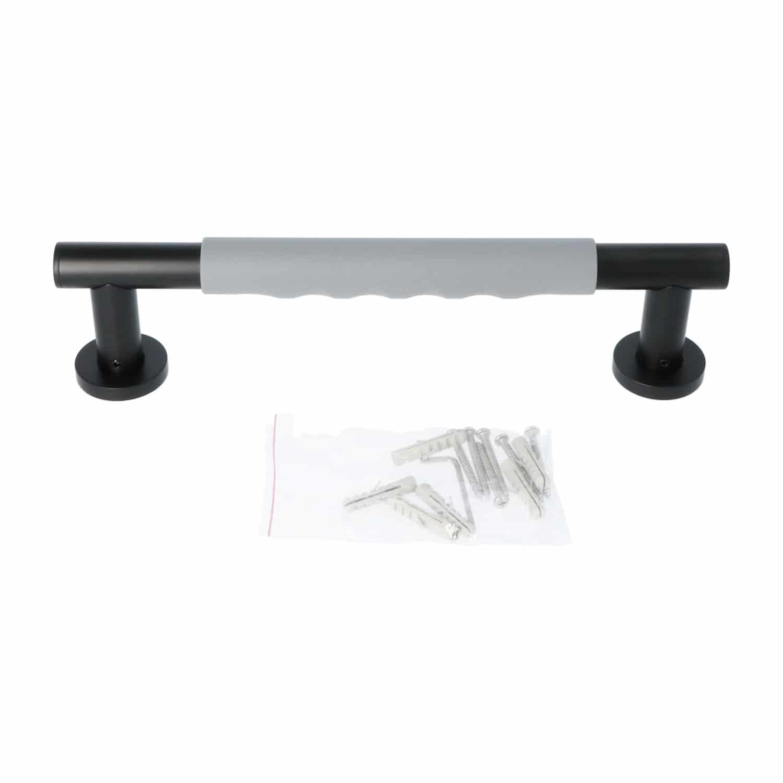 Luzzo® Fisso Soft Handgreep Badkamer/Toiletgreep 30 cm - Zwart/Grijs