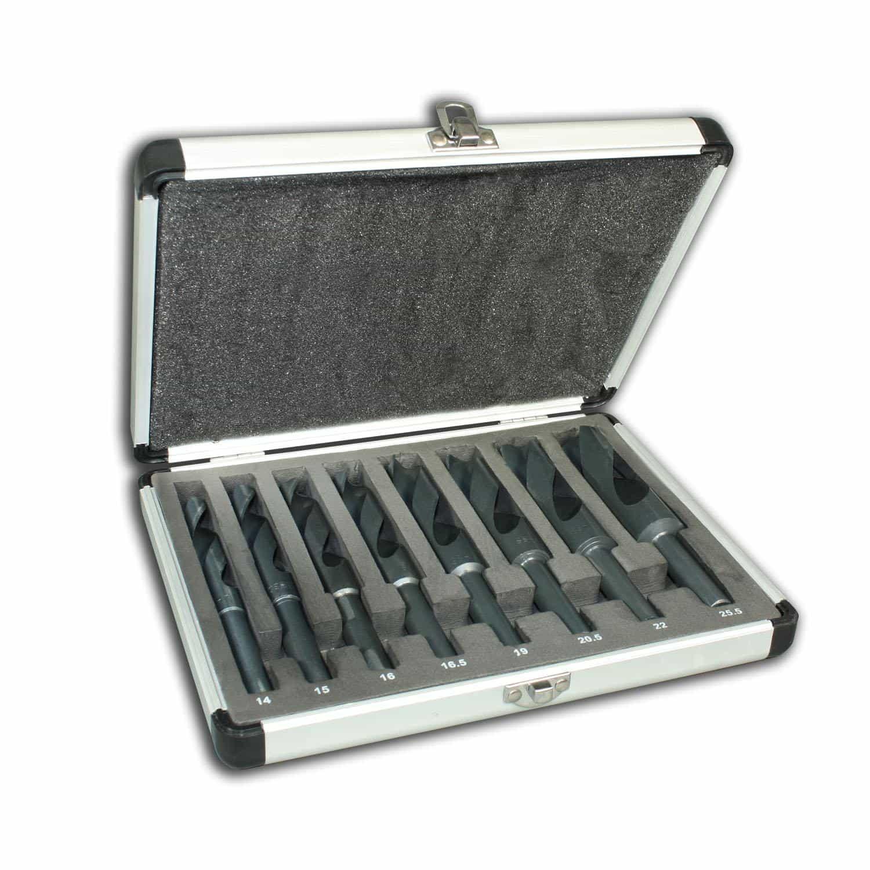 Hanse Werkzeuge Spiraalboorset HSS in alu koffer- 8 delig - 14-25,5mm