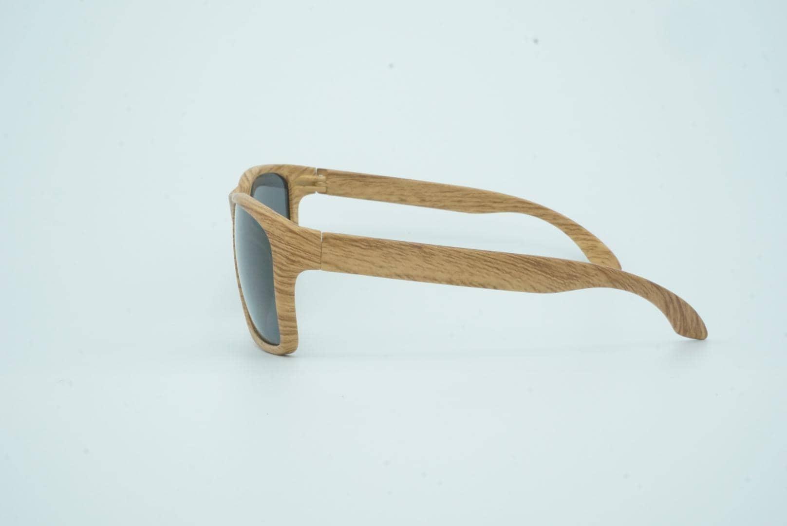 4Goodz Ibiza grey - houtlook wayfarer zonnebril - grijs - Uv400