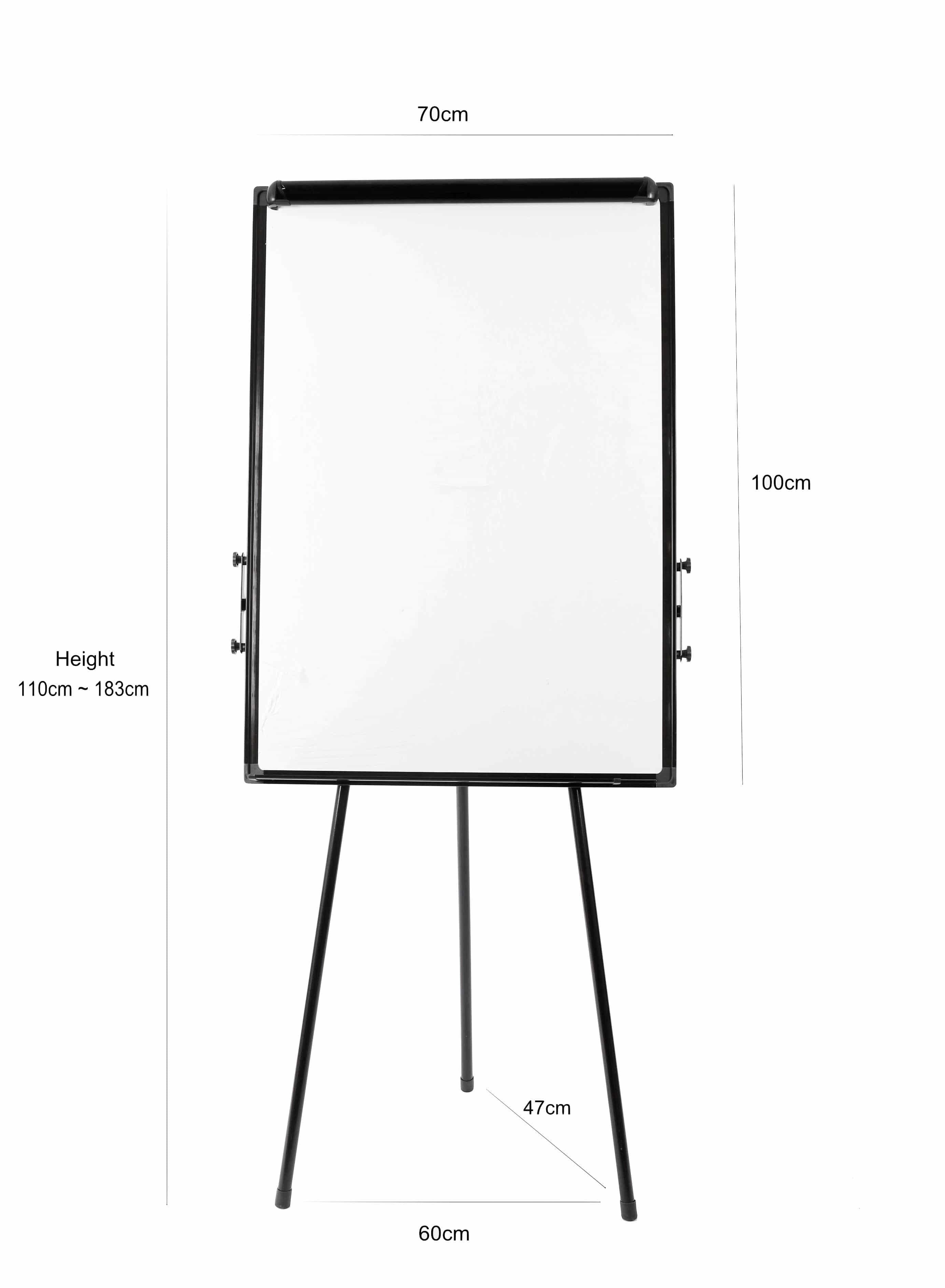 4offiz lichtgewicht Flipover inclusief toebehoren - 110-183cm - zwart