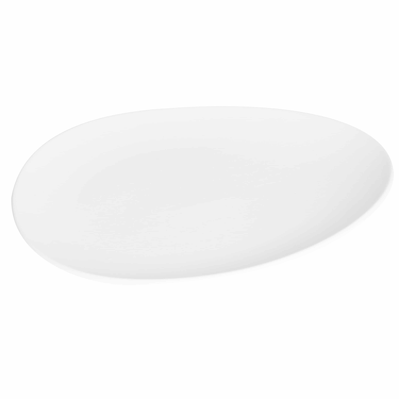 4goodz Kei bordenset 6x Porseleinen Dinerborden XL - 33x29 cm - Wit