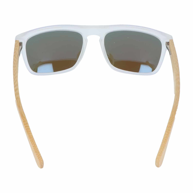 5one® Sicily transparent Ice Blue - gepolariseerd - Bamboe hout