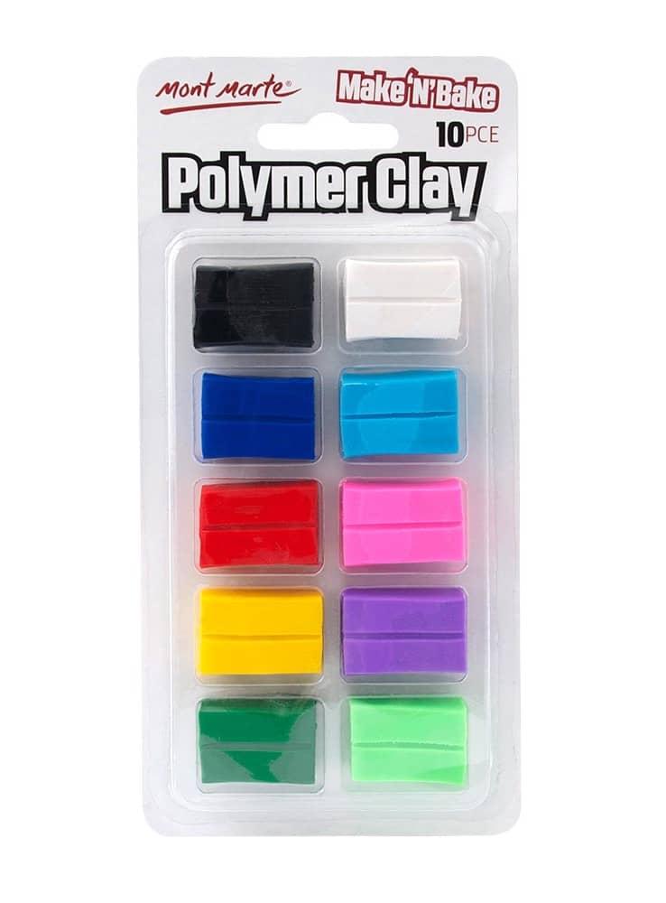 Mont Marte® polymeerklei 2x 10 kleuren - boetseerklei 20 blokjes