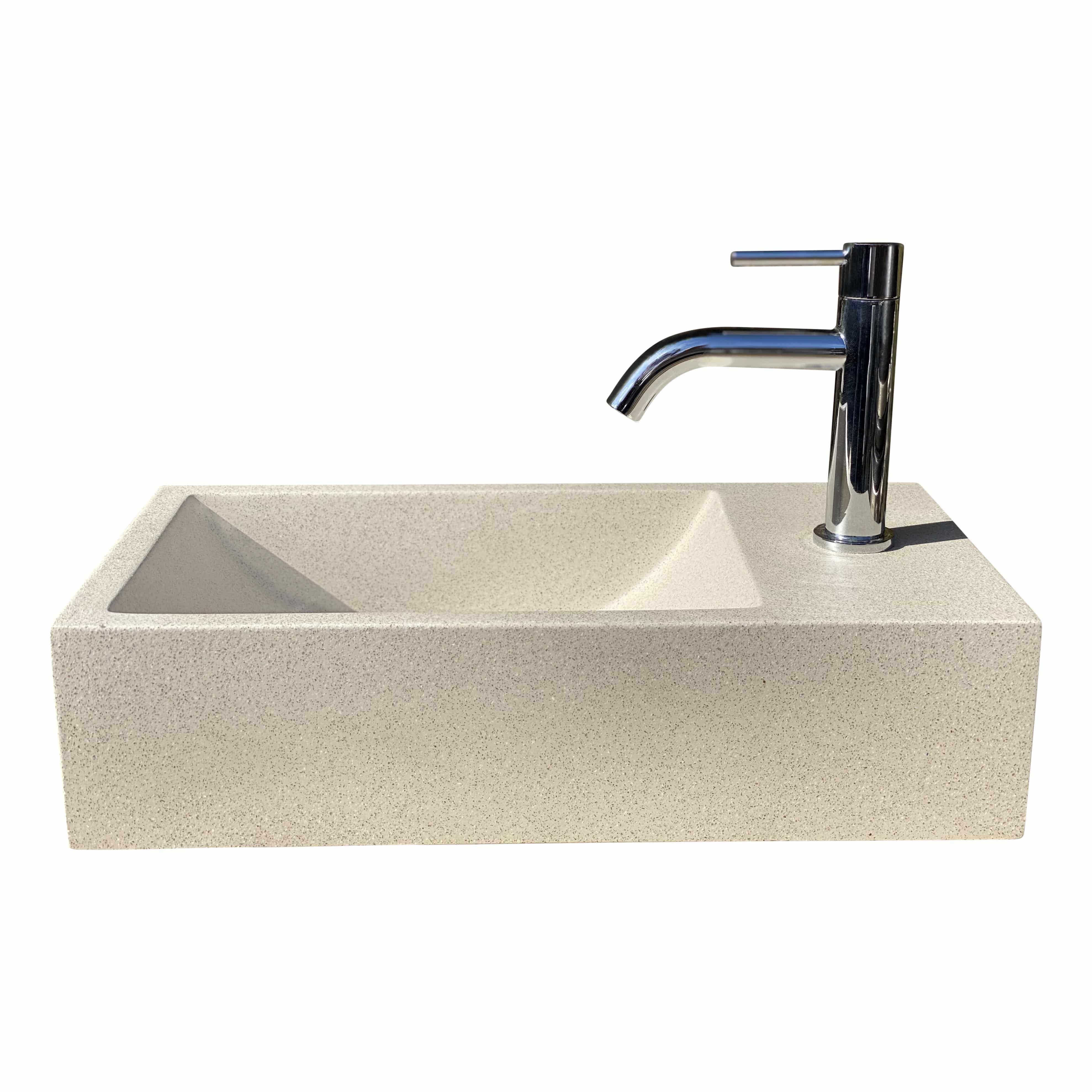 4Goodz fontein polybeton Zand Terrazzo - 40x22x15 cm