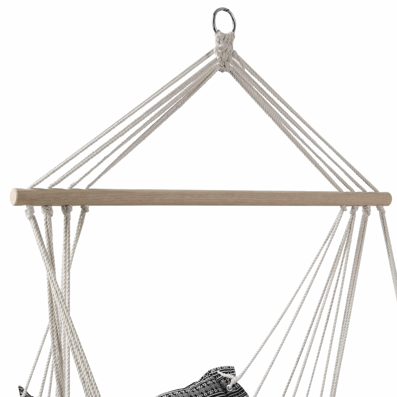 4goodz Comfortabele Hangstoel Ibiza 90x65cm donker - Zwart