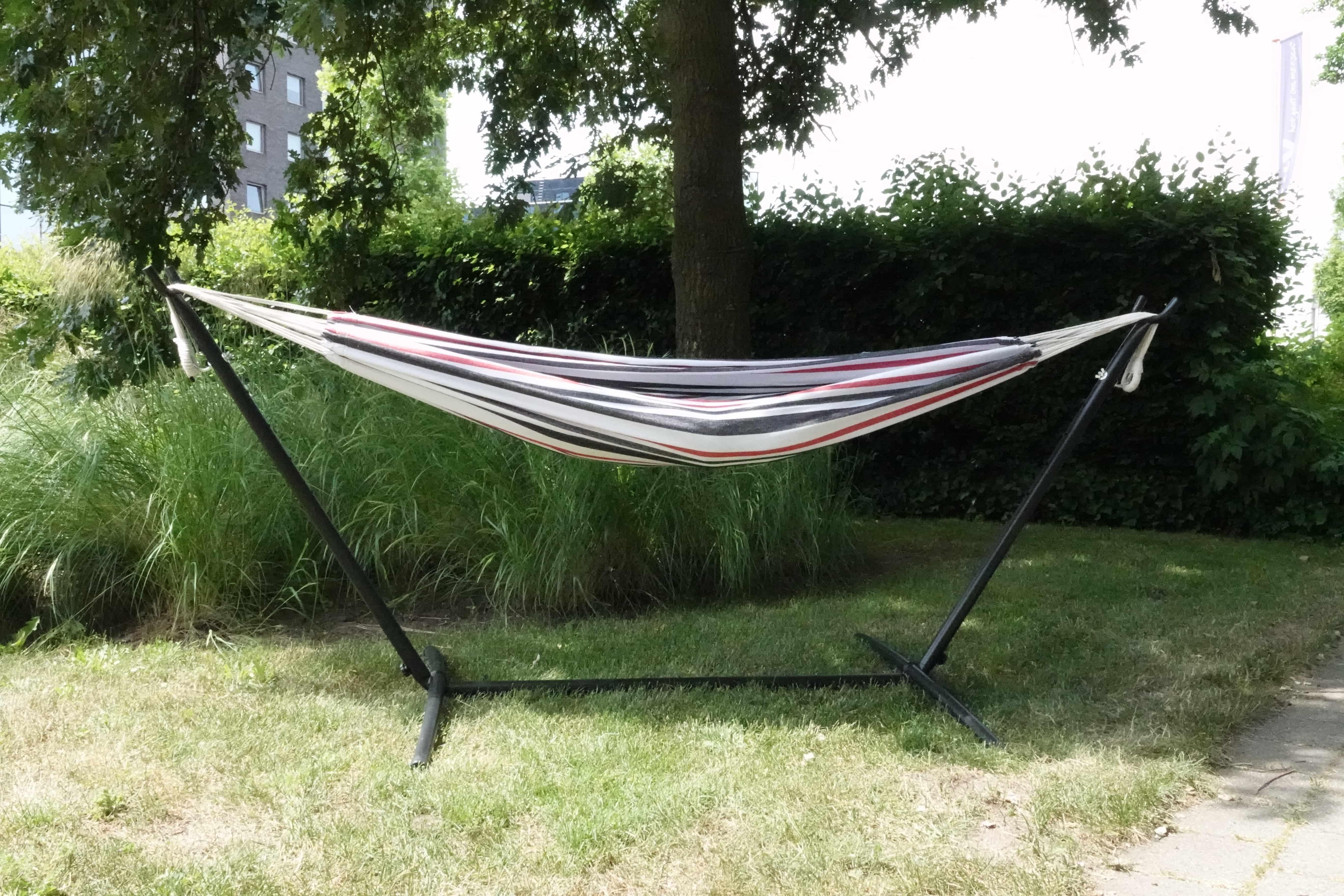 4gardenz Canvas hangmat Scandic - 200x150cm -Totale lengte 320cm