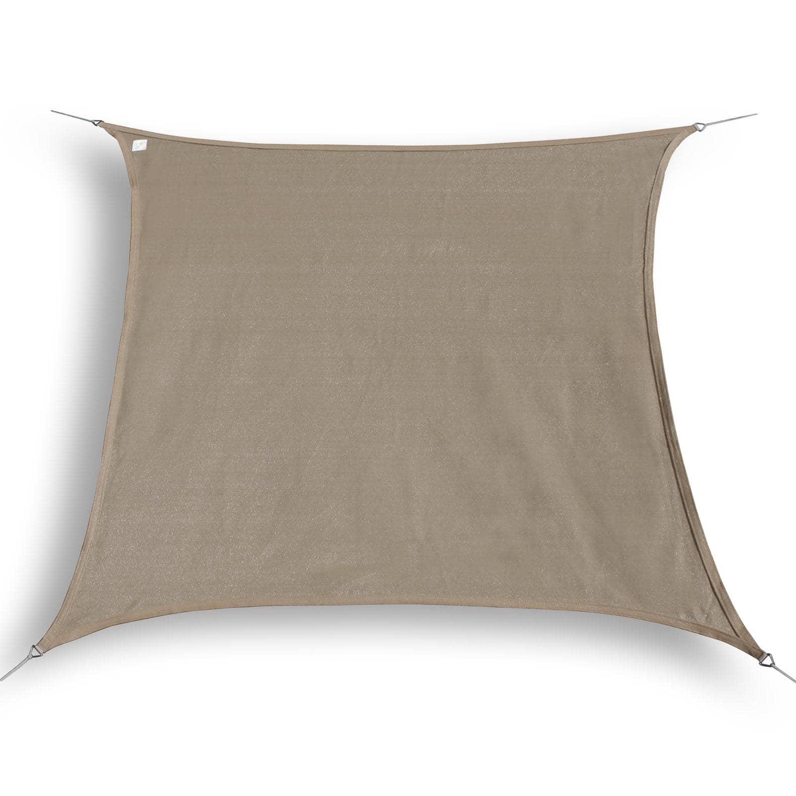 hanSe® Schaduwdoek Vierkant Waterdoorlatend 5x5 m - zonnedoek - Taupe