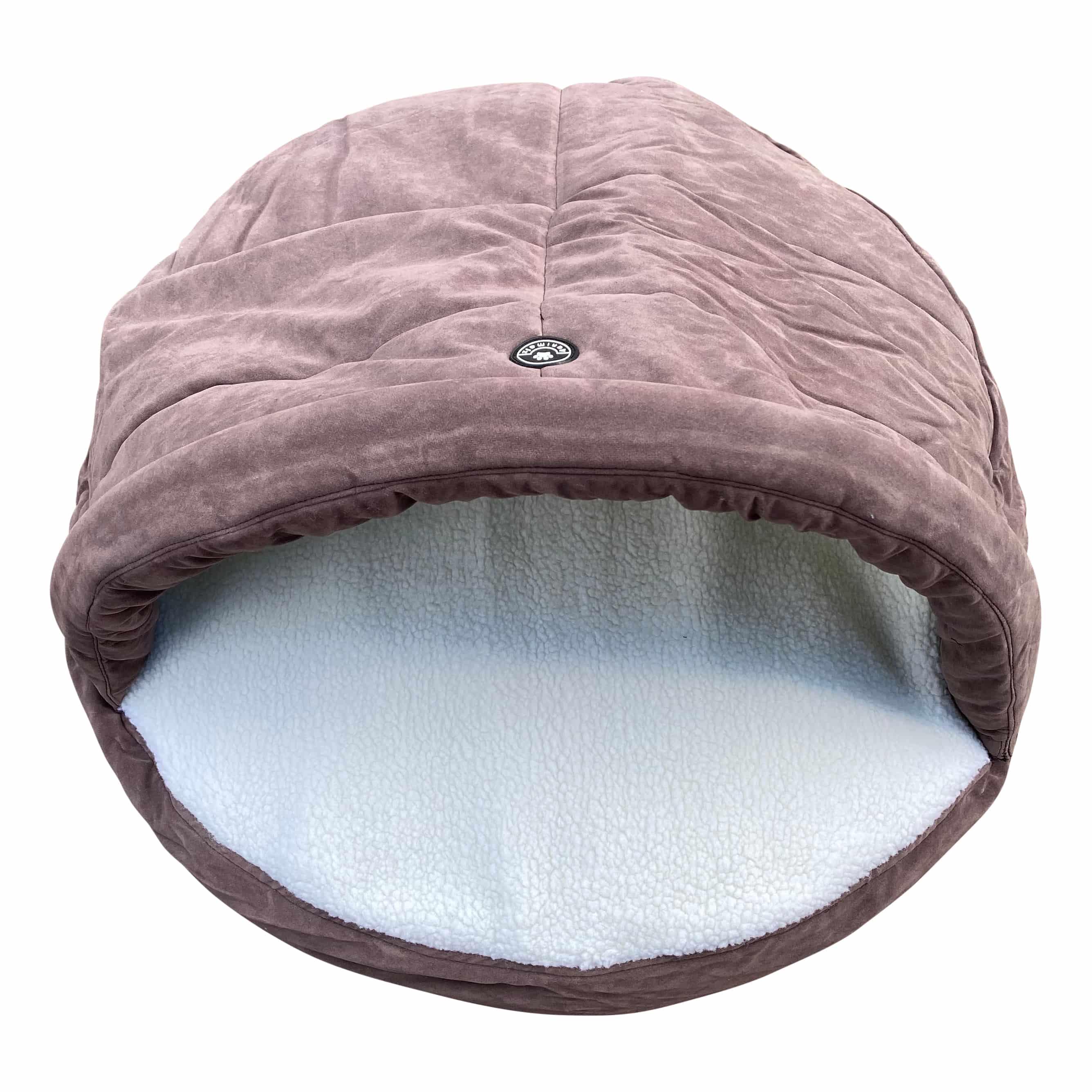 4animalz warme Snuggle Hondenmand M - 64x64x10cm - Taupe