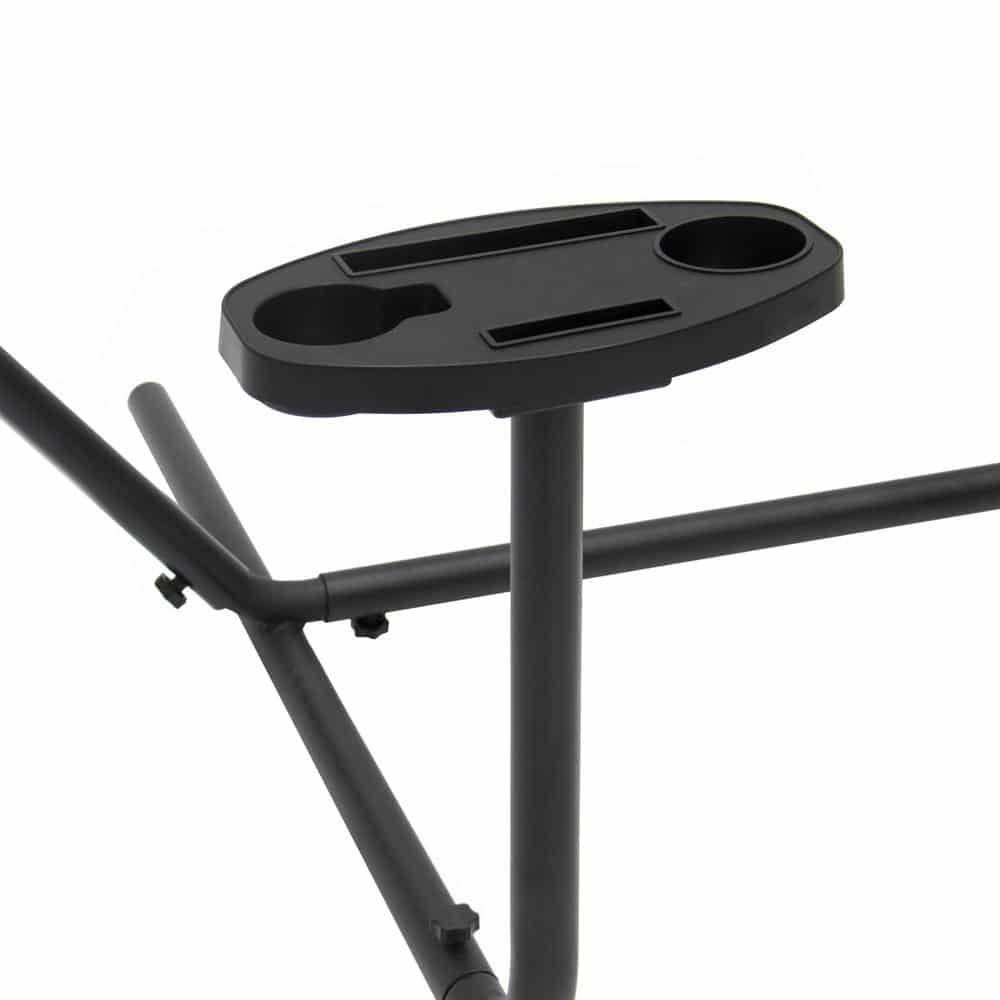 4gardenz hangmatstandaard straight met tafel - 292x122x110cm - Zwart