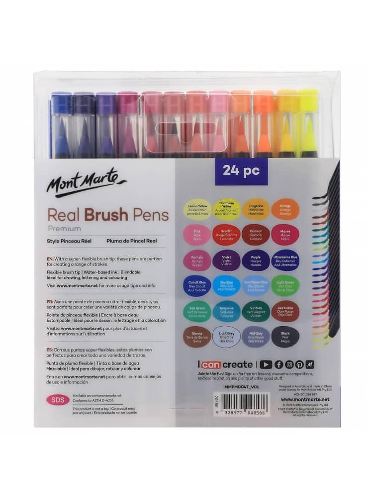 Mont Marte® penseelstiften set 24 stuks - gevulde waterbrush stiften