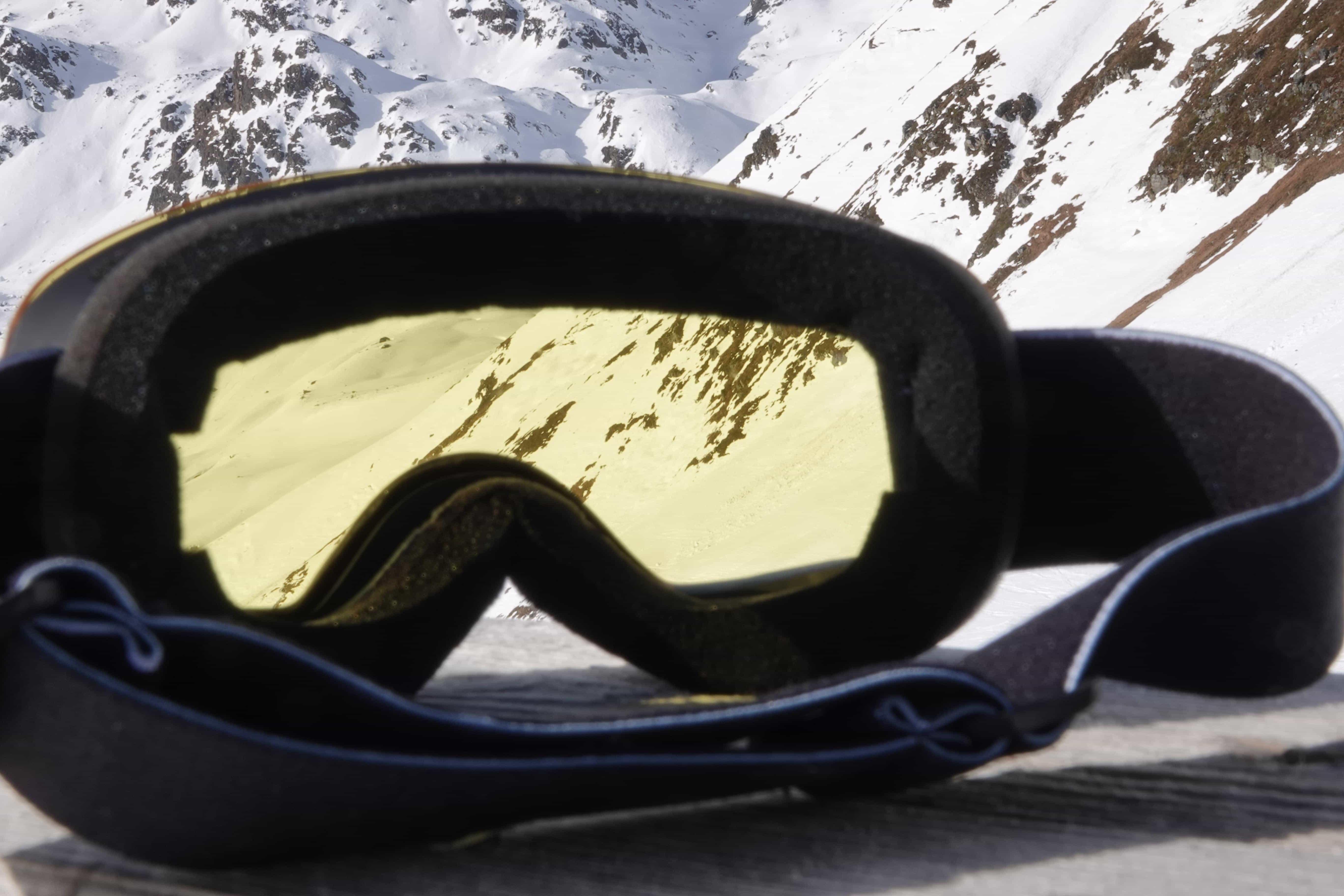 5one® Alpine 2 kinder skibril - Blue revo + gele lens - antic-ondens