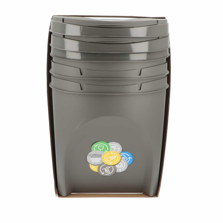 4Goodz Afvalscheidingsprullenbakken Set 3x 25 liter stapelbaar