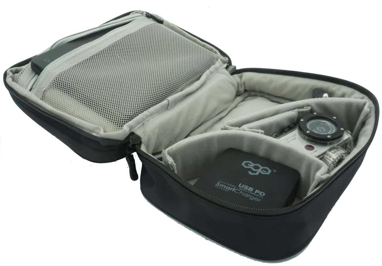 5one® Kabel organiser #5 - 2 laags - kabeltas waterproof - Zwart