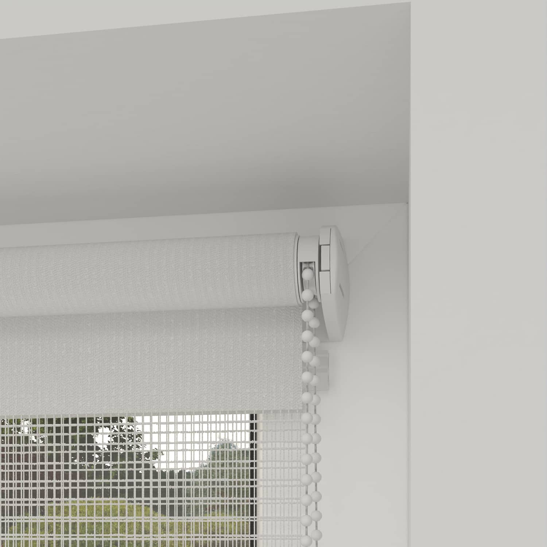 4Goodz Duo Rolgordijn Easy Lichtdoorlatend 150x180 cm - Wit