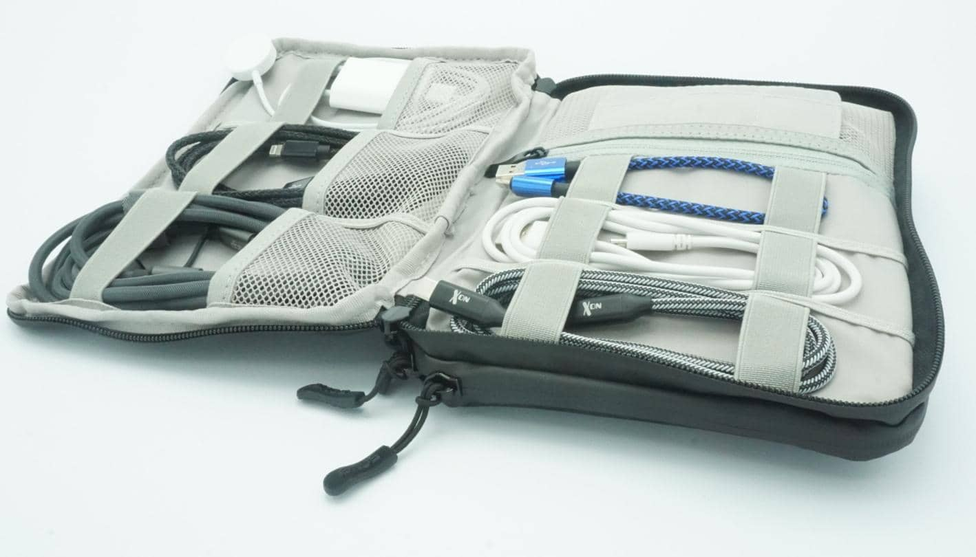 5one® Kabel organiser #3 - 2 laags - kabeltas waterproof - antraciet