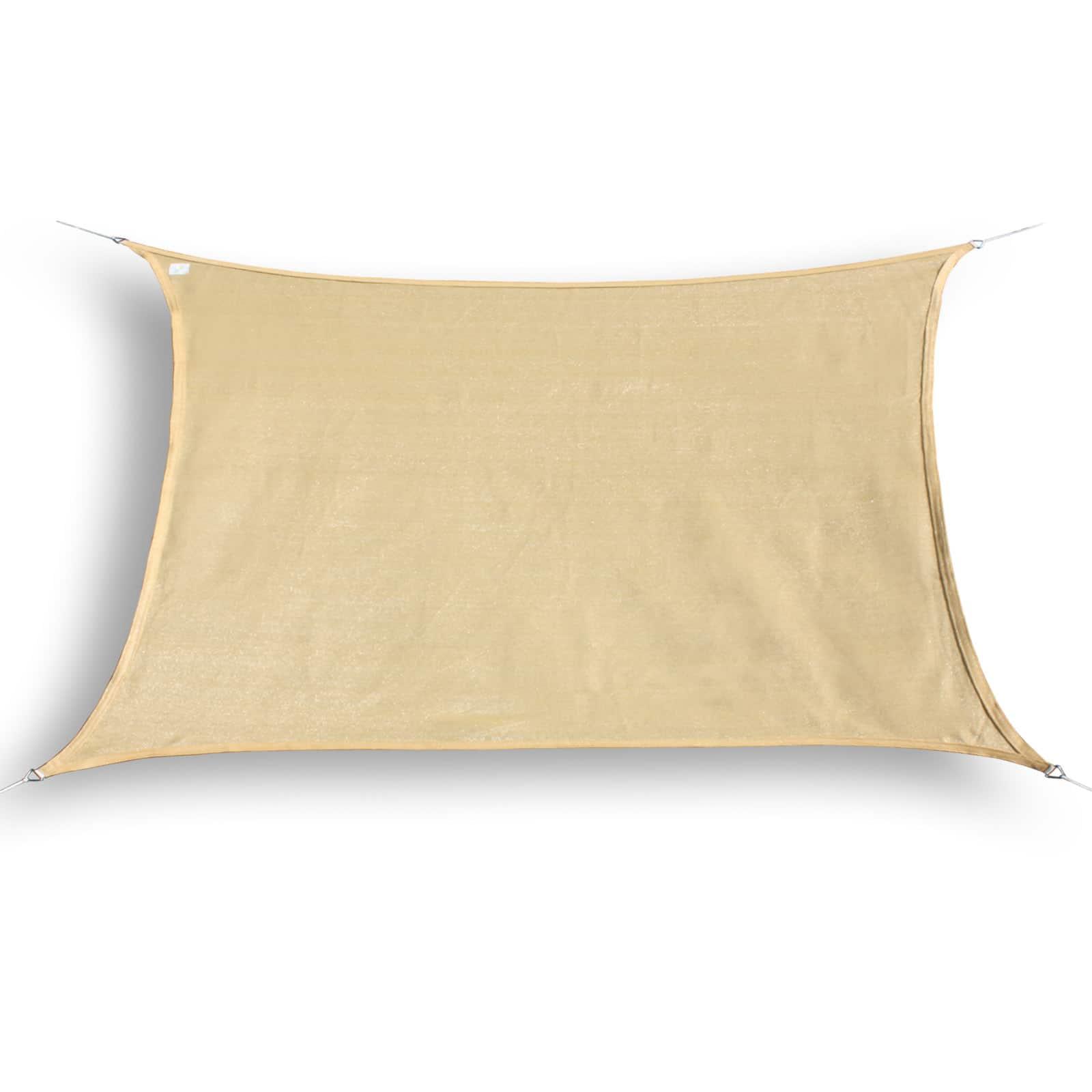 hanSe® Schaduwdoek Rechthoek Waterdoorlatend 2,5x4 m - zonnedoek Zand