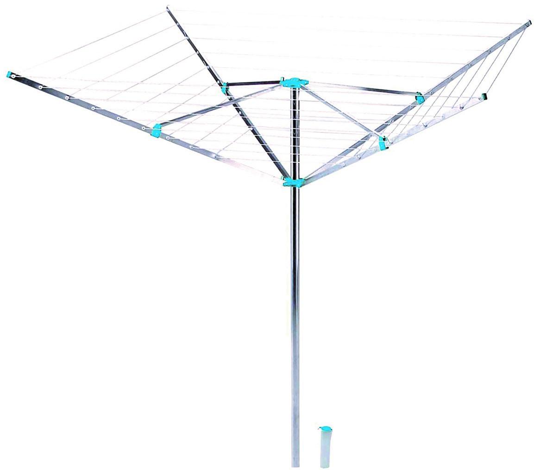 4goodz Aluminium Droogmolen drooglengte 42 meter - 230x230x180 cm