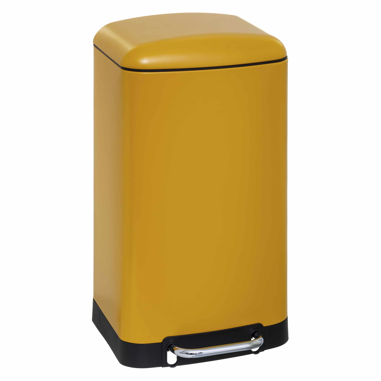 4goodz pedaalemmer 30 liter met uitneembare emmer 34x32x61cm - Geel