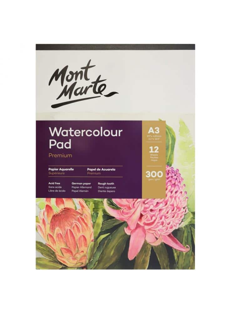 Mont Marte® A5 waterverf papier 300 grams - 12 vellen