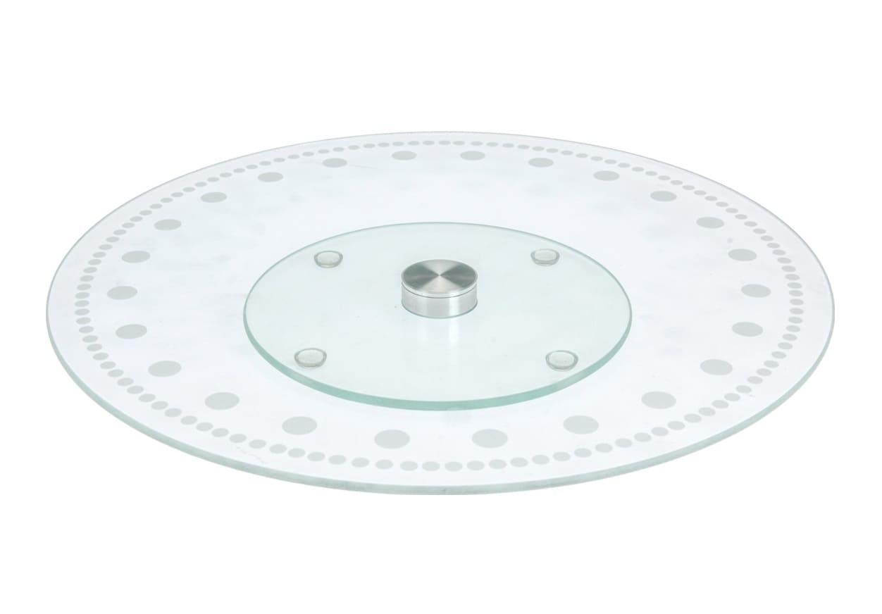 4Goodz Draaibaar serveerplateau van glas - 30 cm doorsnede