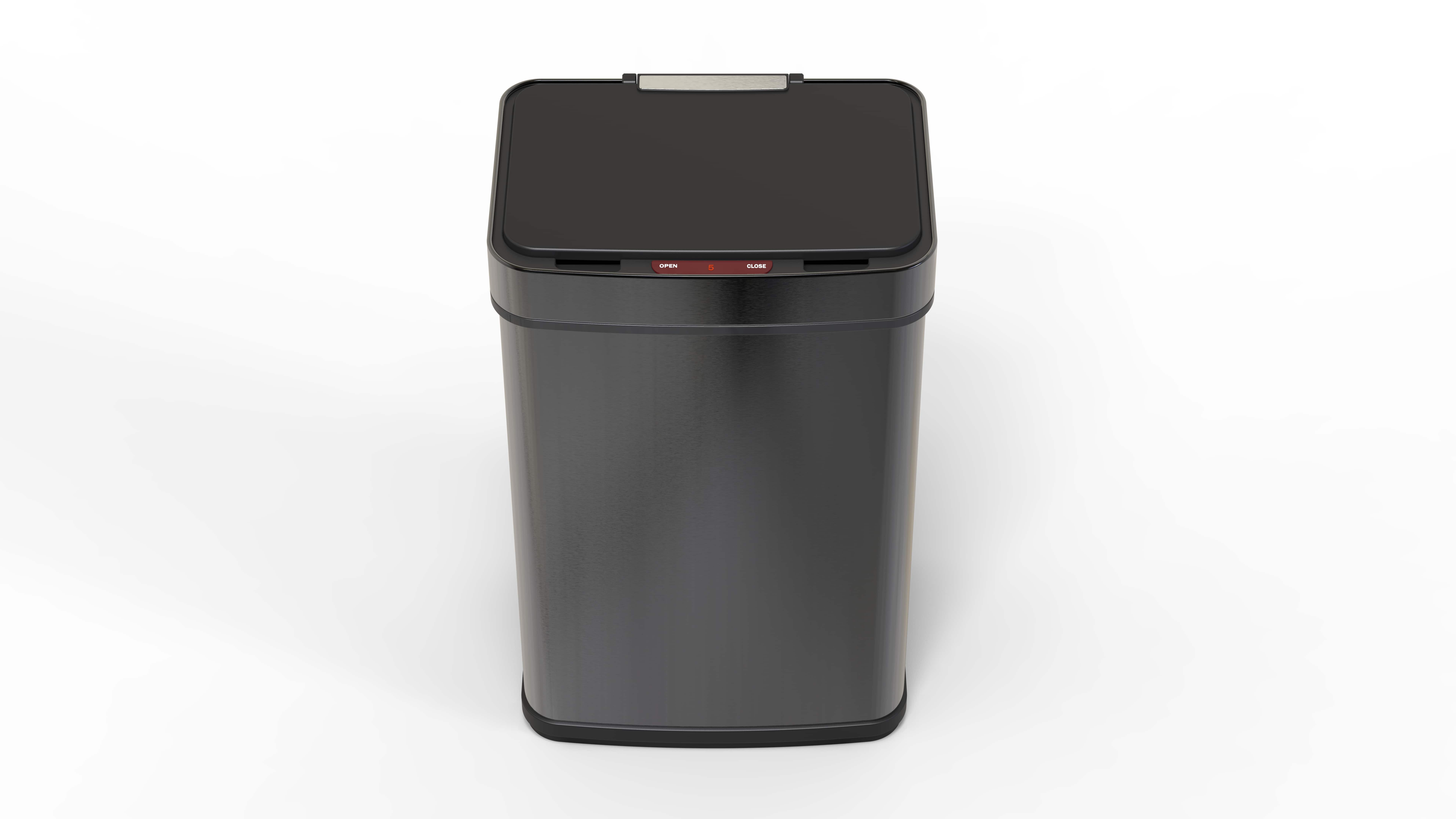4cookz® RVS prullenbak 60 liter - prullenbak met sensor – Zwart
