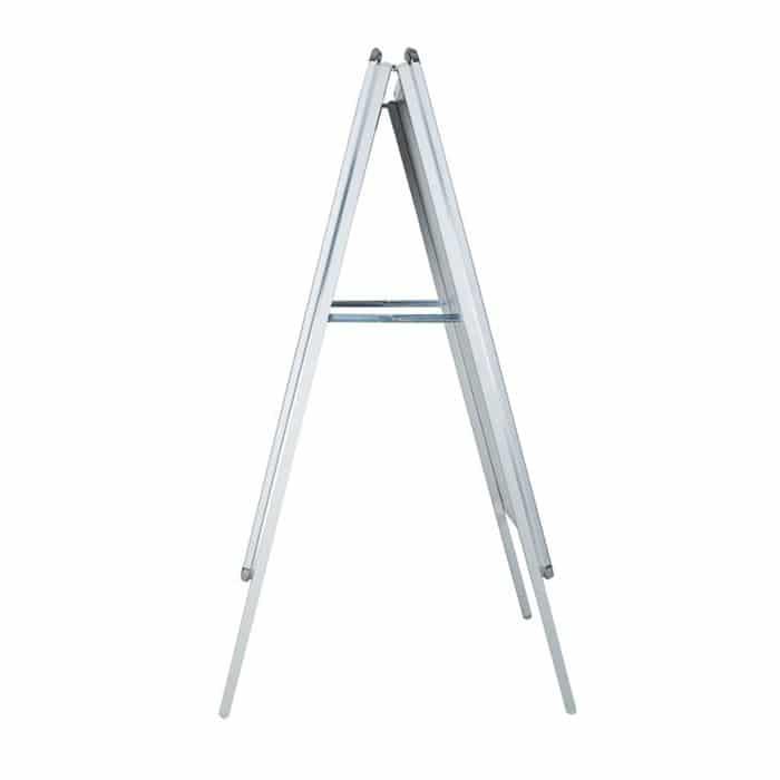 4offiz Chicago Silver aluminium stoepboard / reclamebord A1 - zilver