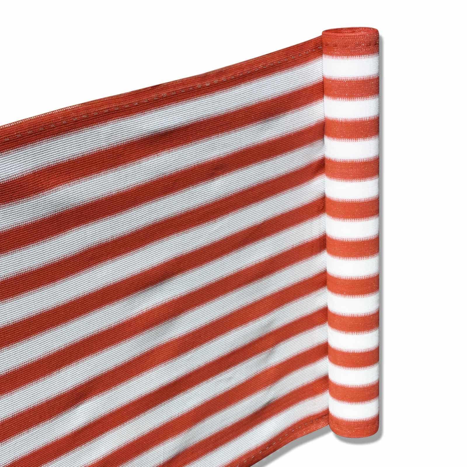 Hanse® Duurzaam Balkonscherm - Terracotta/Wit - Balkondoek - 500x90cm