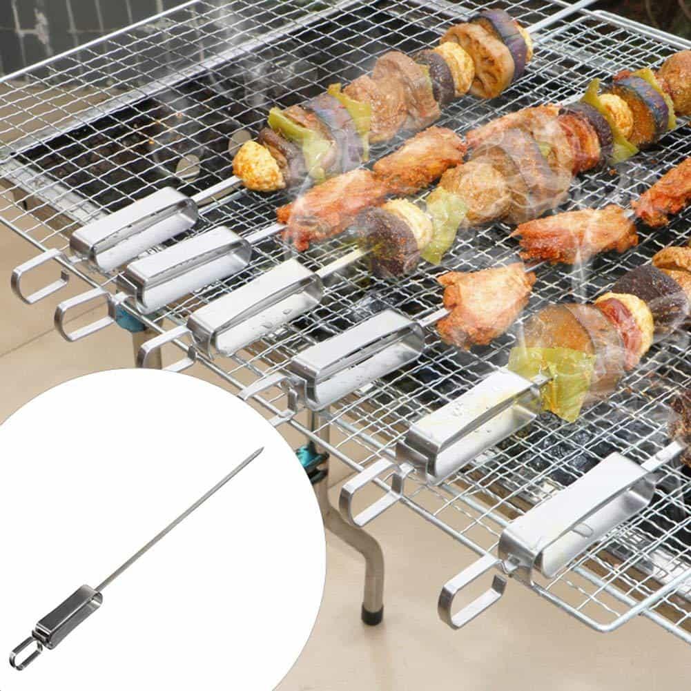 4cookz® BBQ Spiezen RVS met houder - 6 delige gril pennen set - 40cm