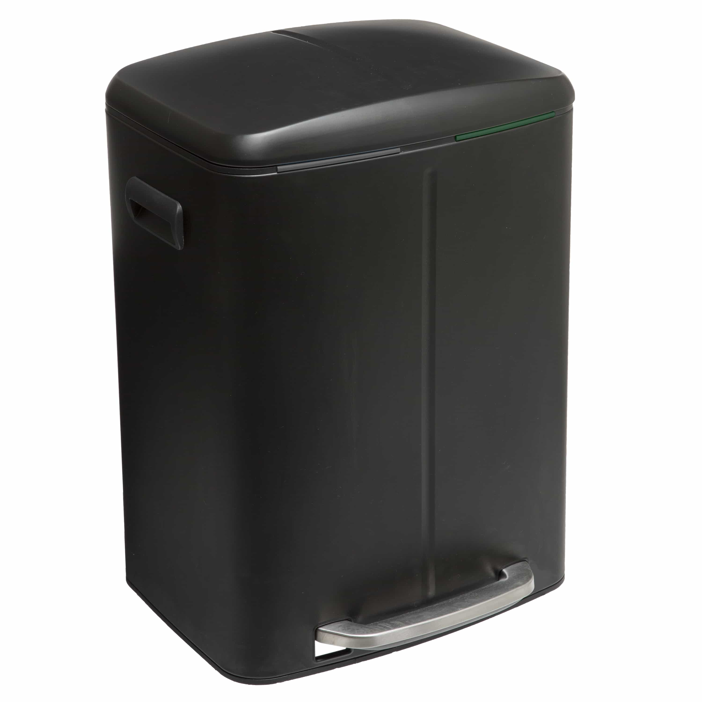 4goodz Afvalscheidings Pedaalemmer met binnenbak 2x22 liter - zwart