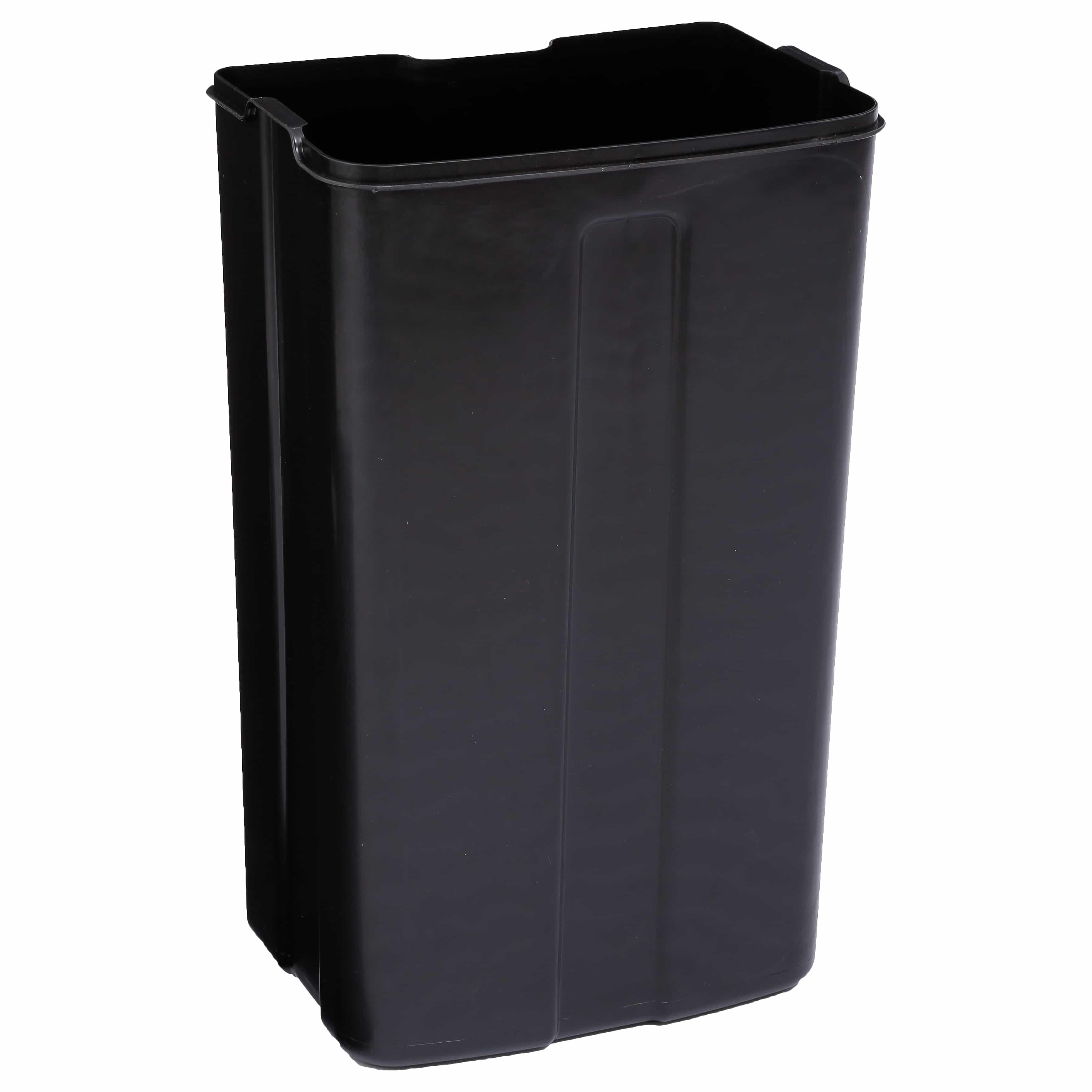 4goodz pedaalemmer 30 liter met uitneembare emmer 34x32x61cm - Zwart