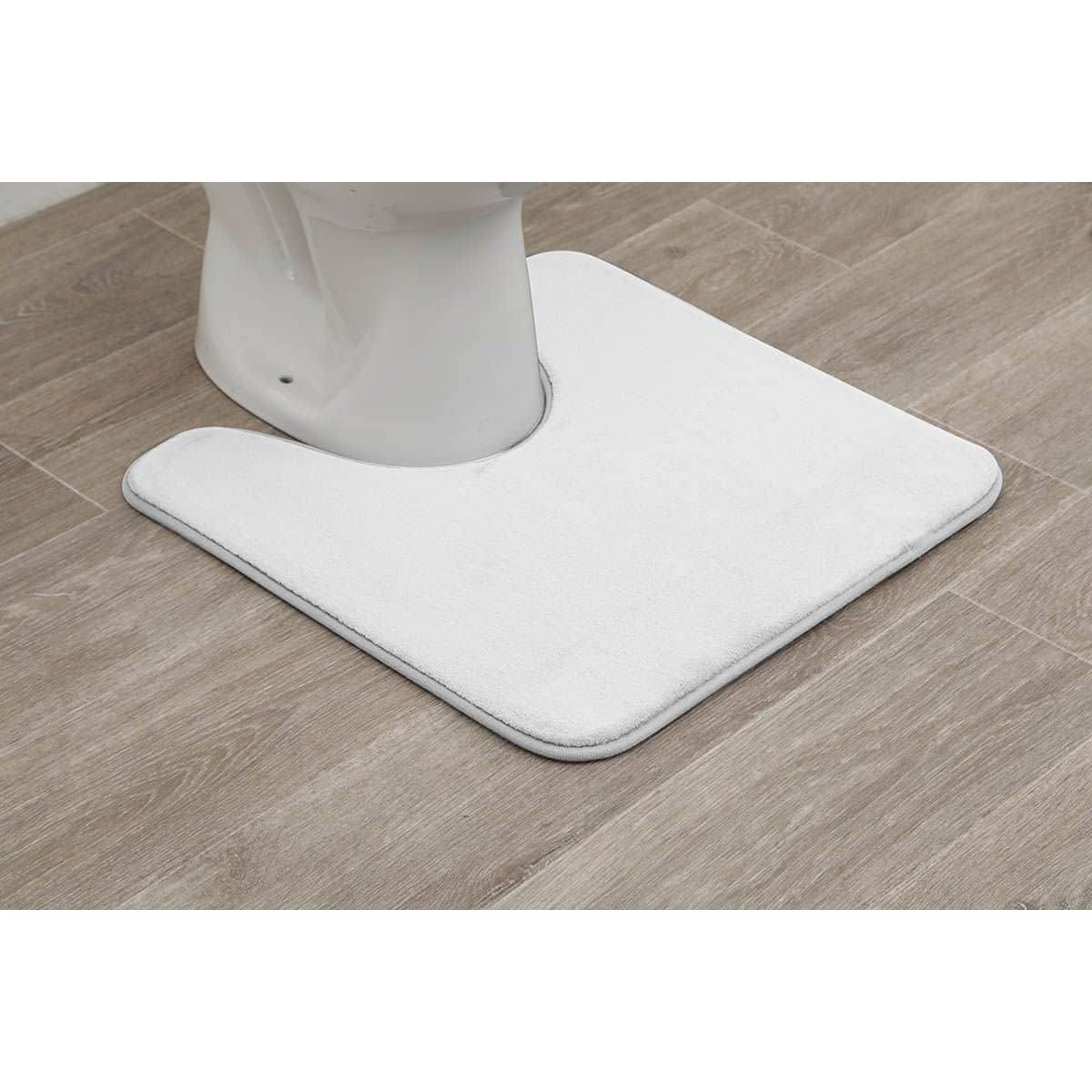 4goodz Toiletmat Basic polyester 50x50 cm - Wit