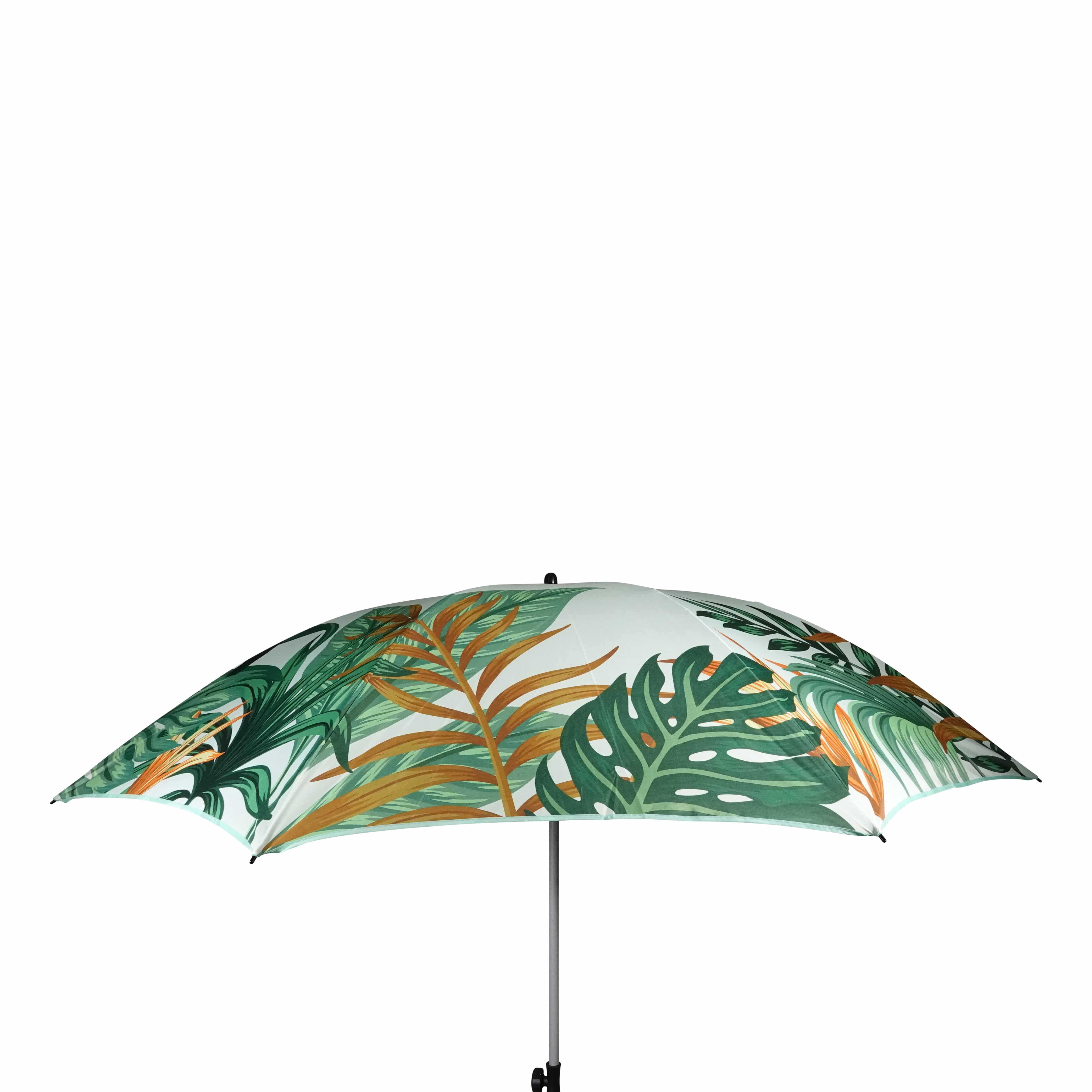 4gardenz Tropical strandparasol met knikarm 200 cm - Olijfgroen