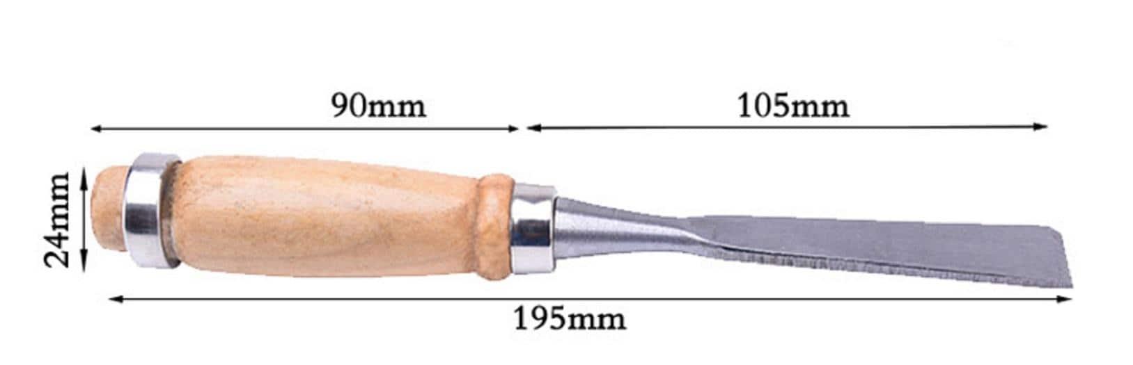 4artz® 12-delige gutsen / steekbeitelset - houtbewerking - 19,5cm lang